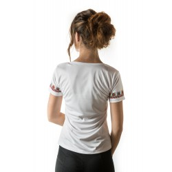 Female t-shirt with national decoration - 001