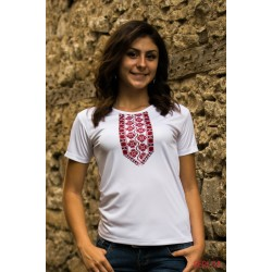 Female t-shirt with national decoration - 004