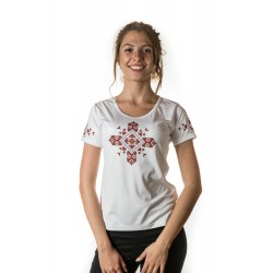 Female t-shirt with national decoration - 008