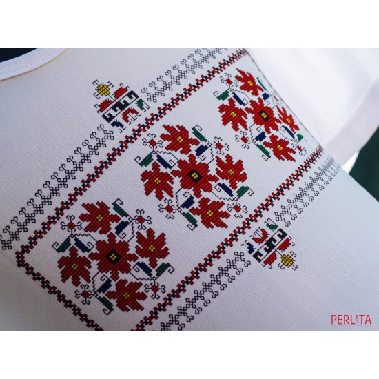Female t-shirt with national decoration - 009