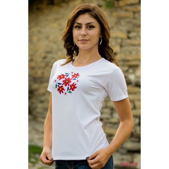 Female t-shirt with national decoration - 010