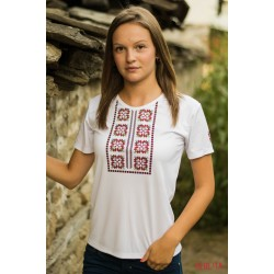 Female t-shirt with national decoration - 011