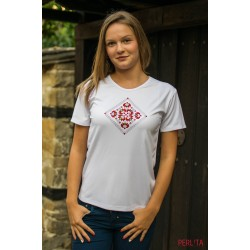 Female t-shirt with national decoration - 012