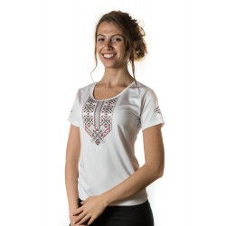 Female t-shirt with national decoration - 013