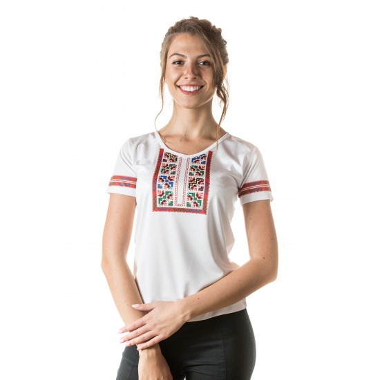 Female t-shirt with national decoration - 014