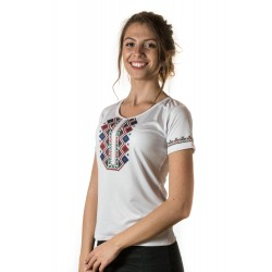 Female t-shirt with national decoration - 016