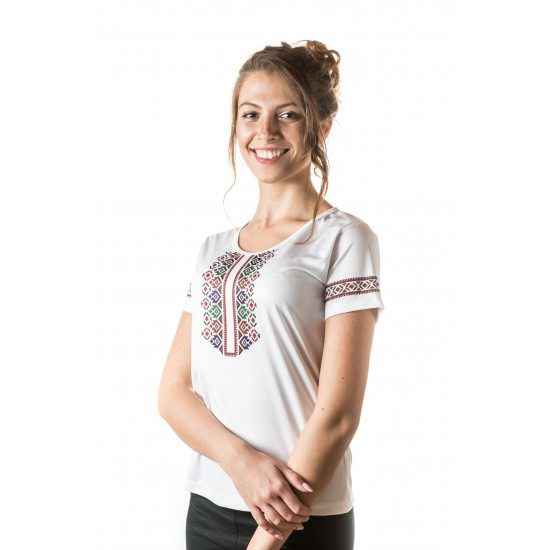 Female t-shirt with national decoration - 017