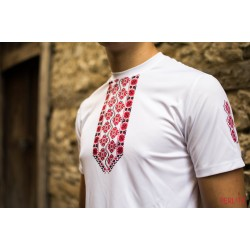 Male t-shirt with national decoration - 004