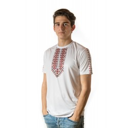 Male t-shirt with national decoration - 007