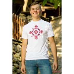 Male t-shirt with national decoration - 008