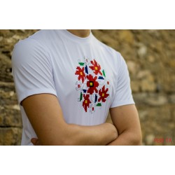 Male t-shirt with national decoration - 010